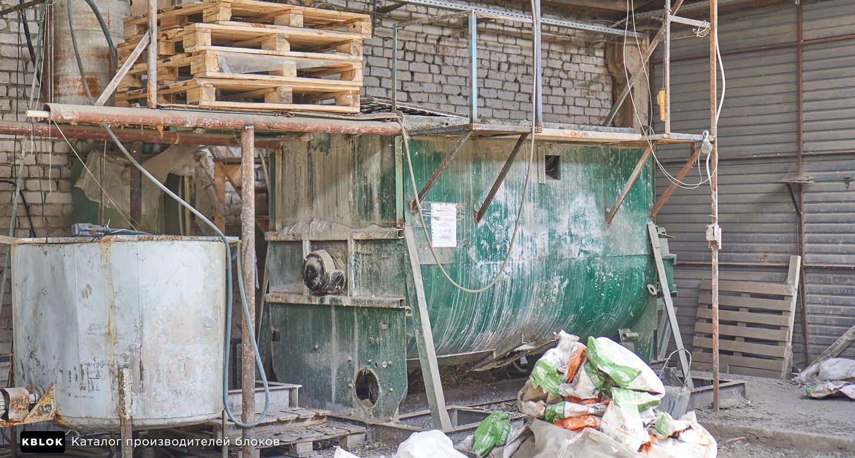 бетоносмеситель для изготовления арбоблоков