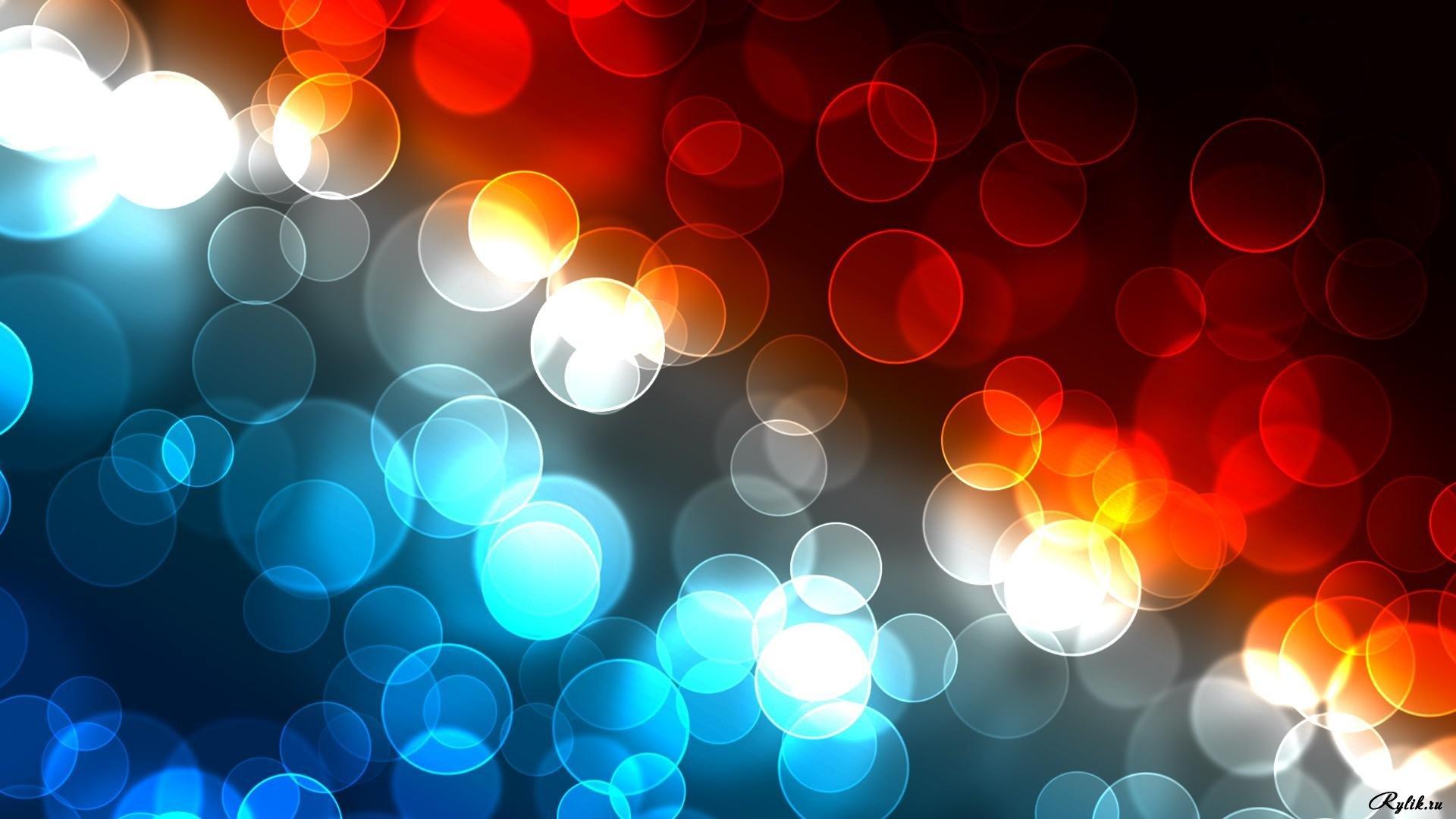 Разноцветные круги на телефон