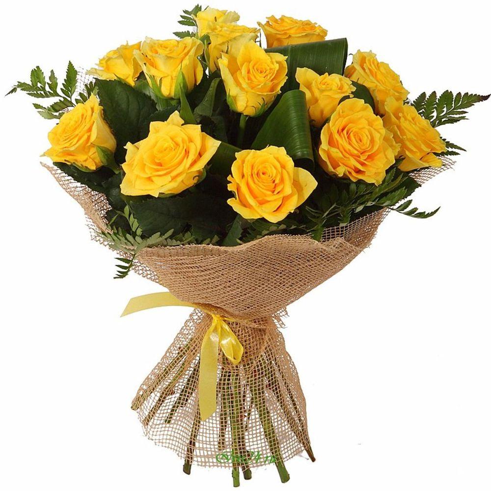 красивый букет из желтых роз знаете