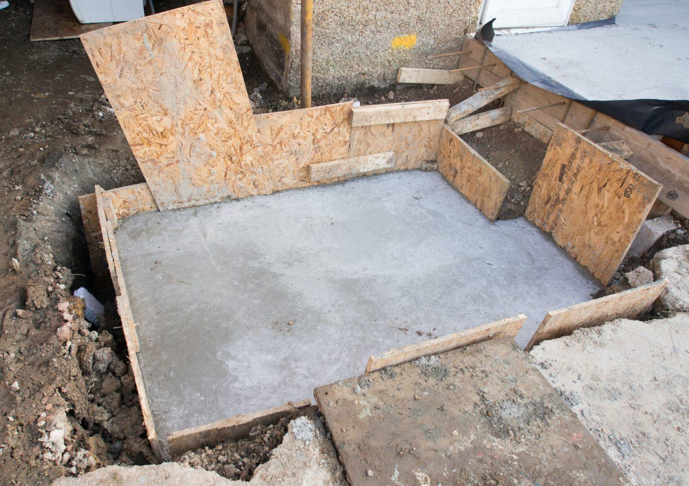 Разбухающий бетон потолок из бетона