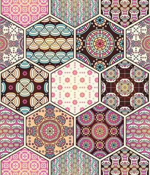 При бохемския стил и бохо шик при дрехите се използват различни принтове с геометрични и флорални мотиви.