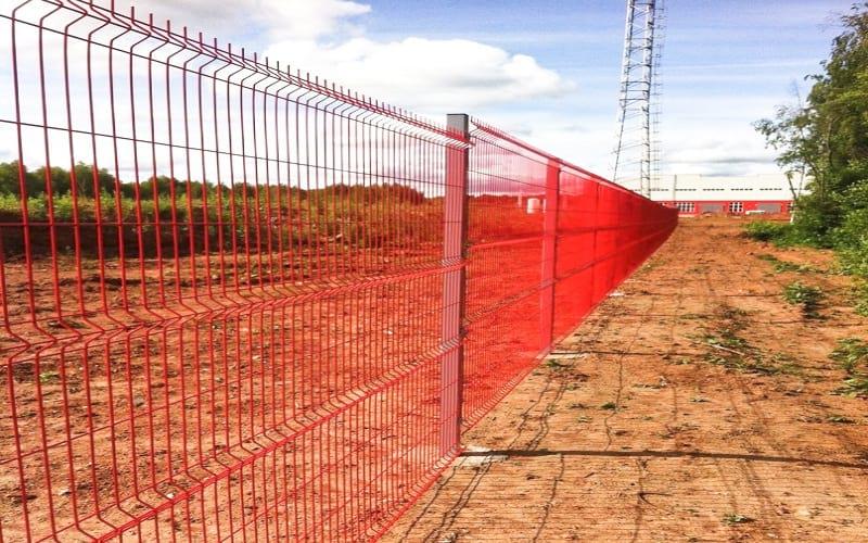 3D забор цвет красный