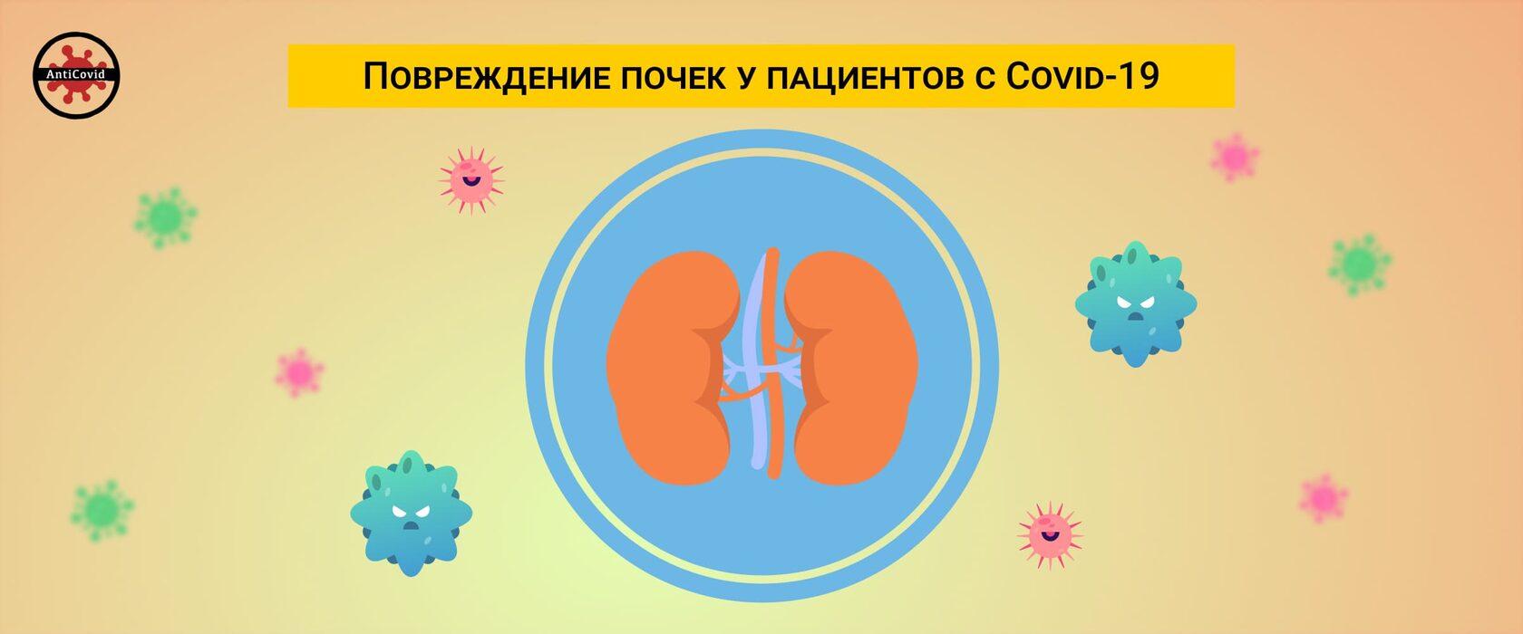 Повреждение почек у пациентов с Covid-19
