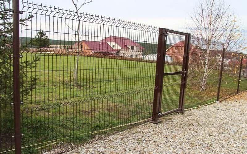 3D забор цвет коричневый