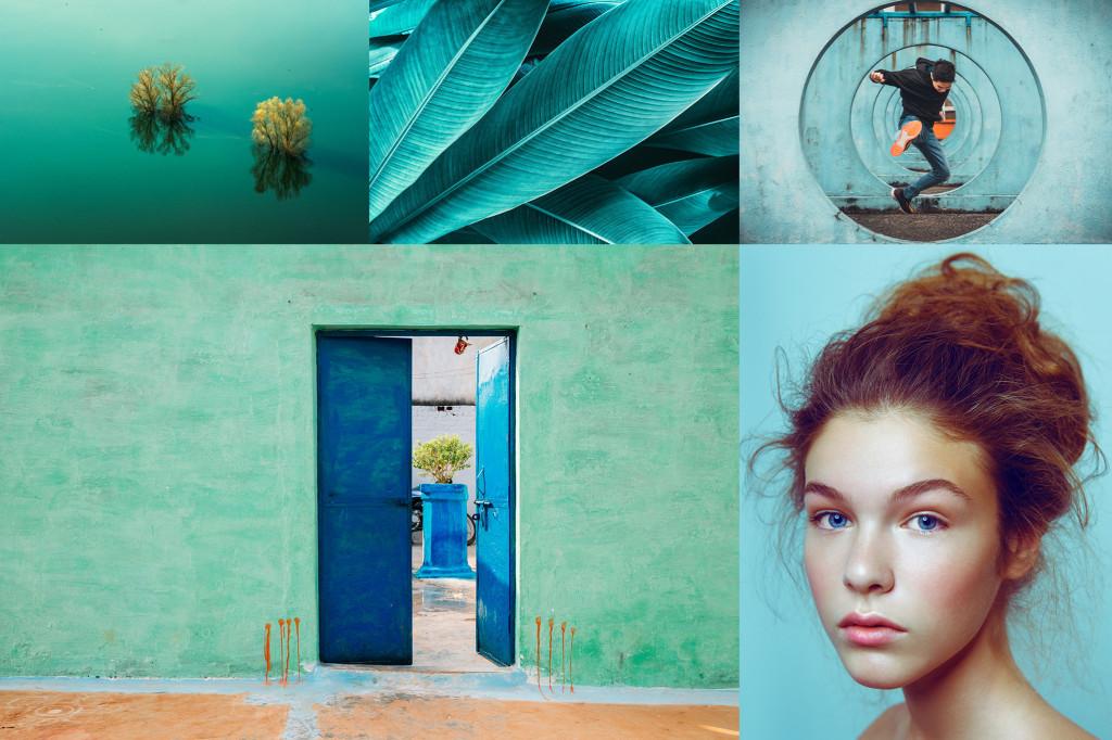 Примеры изображений Шаттерсток с Aqua Menthe (аква мятой) — цветом 2020 года
