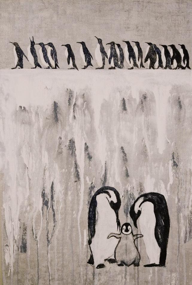Майя Корсунская/ тема «Путешествие на краю земли» / обои, акрил