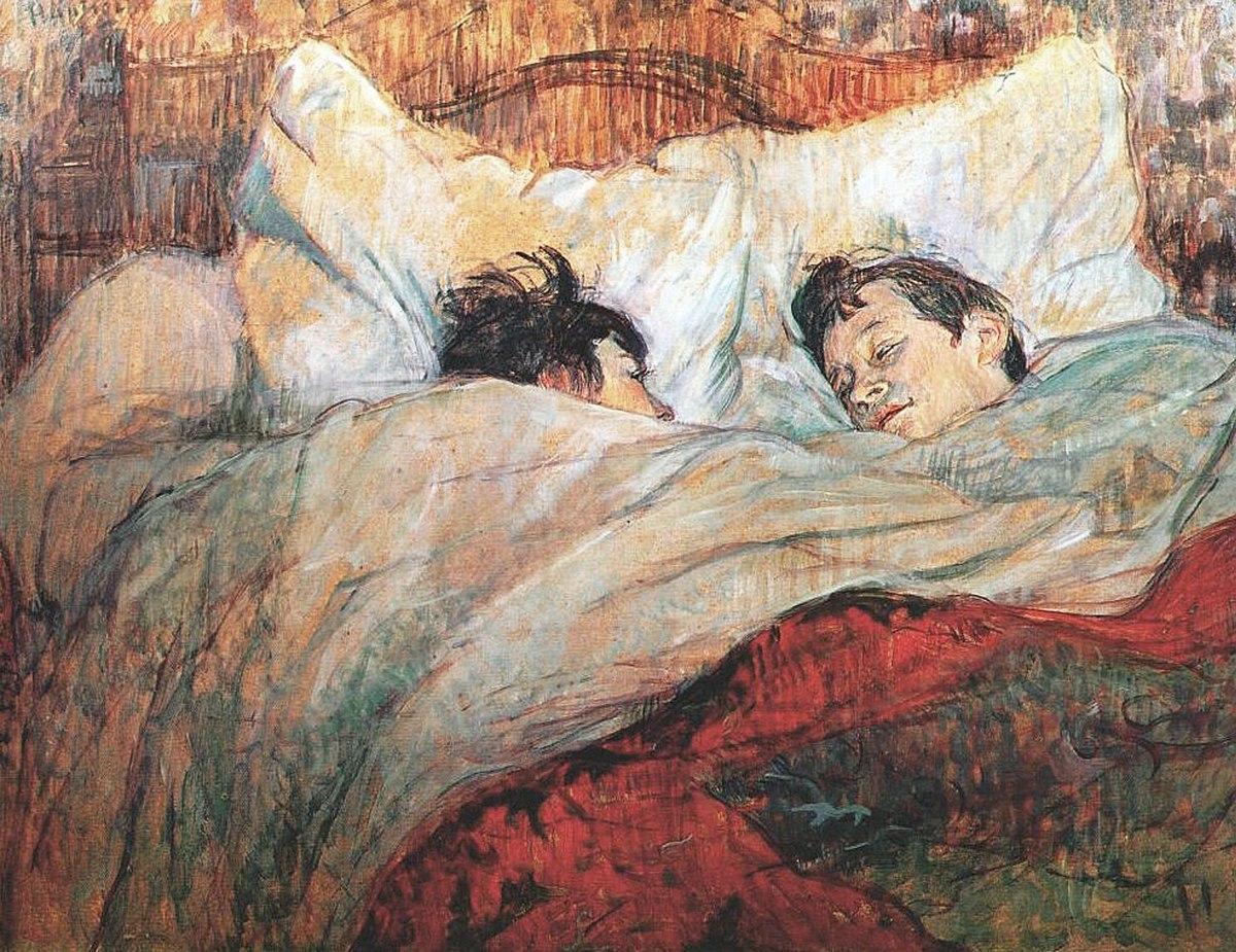 Анри Тулуз-Лотрек, картина — Кровать, 1892 год