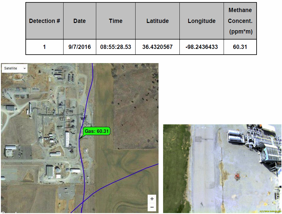 Detection map