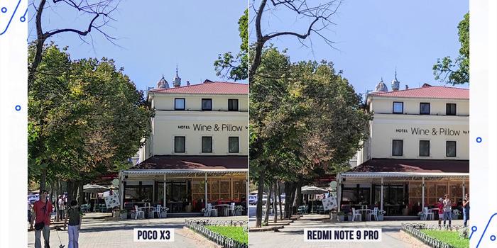 Сравнение фото, сделанных на Xiaomi Poco X3, и снимка, запечатленного на другой смартфон