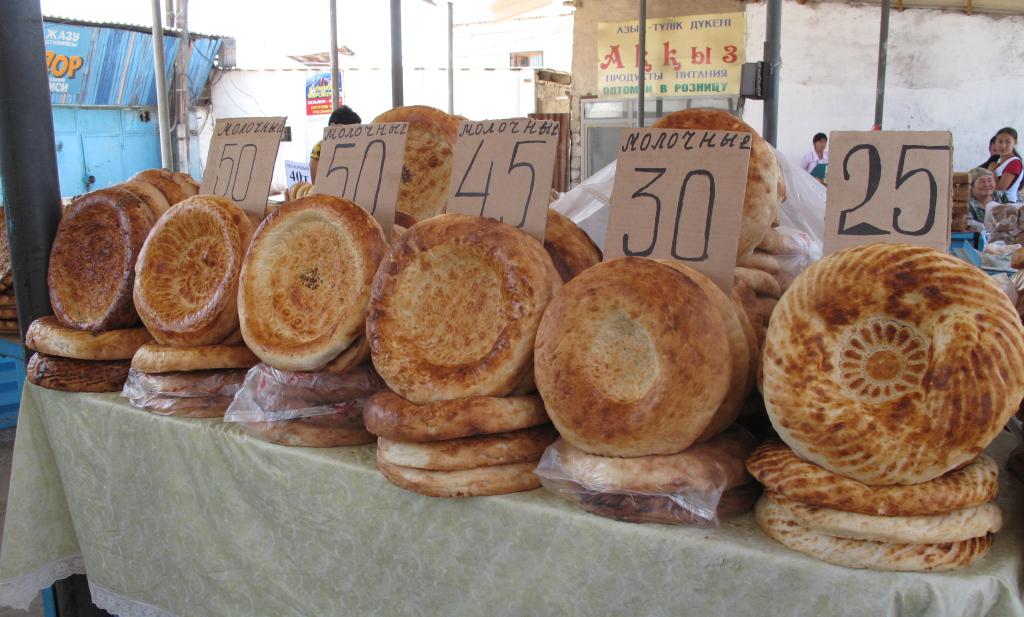 хлеб на базаре в узбекистане фото что первой