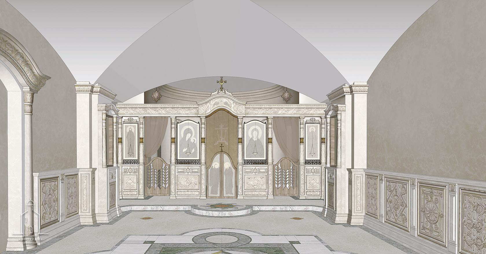 church interior design project, interior design project. iconostasis, iconostasis project, church interior, sacred  architecture