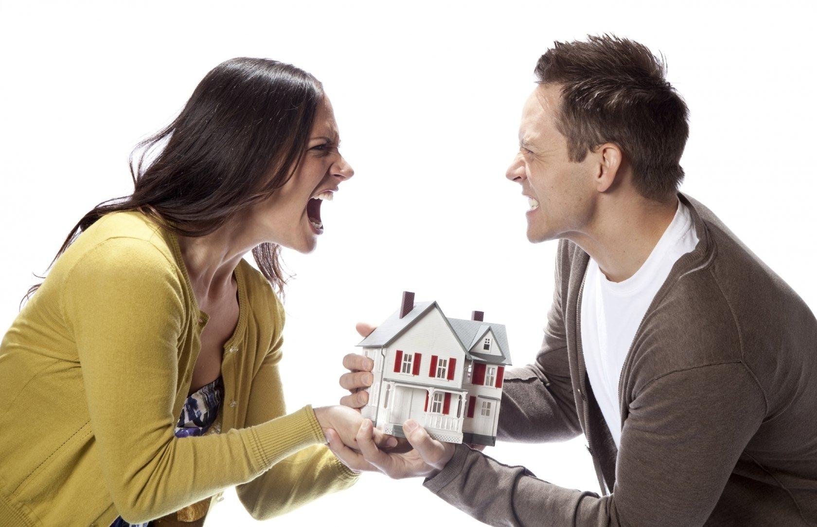 раздел имущества при разводе немного