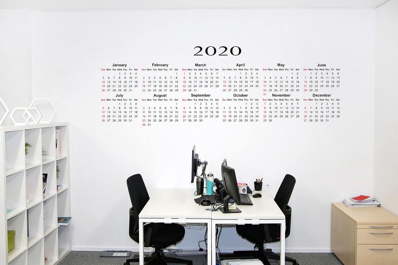 Календарь сдачи отчетности 2020