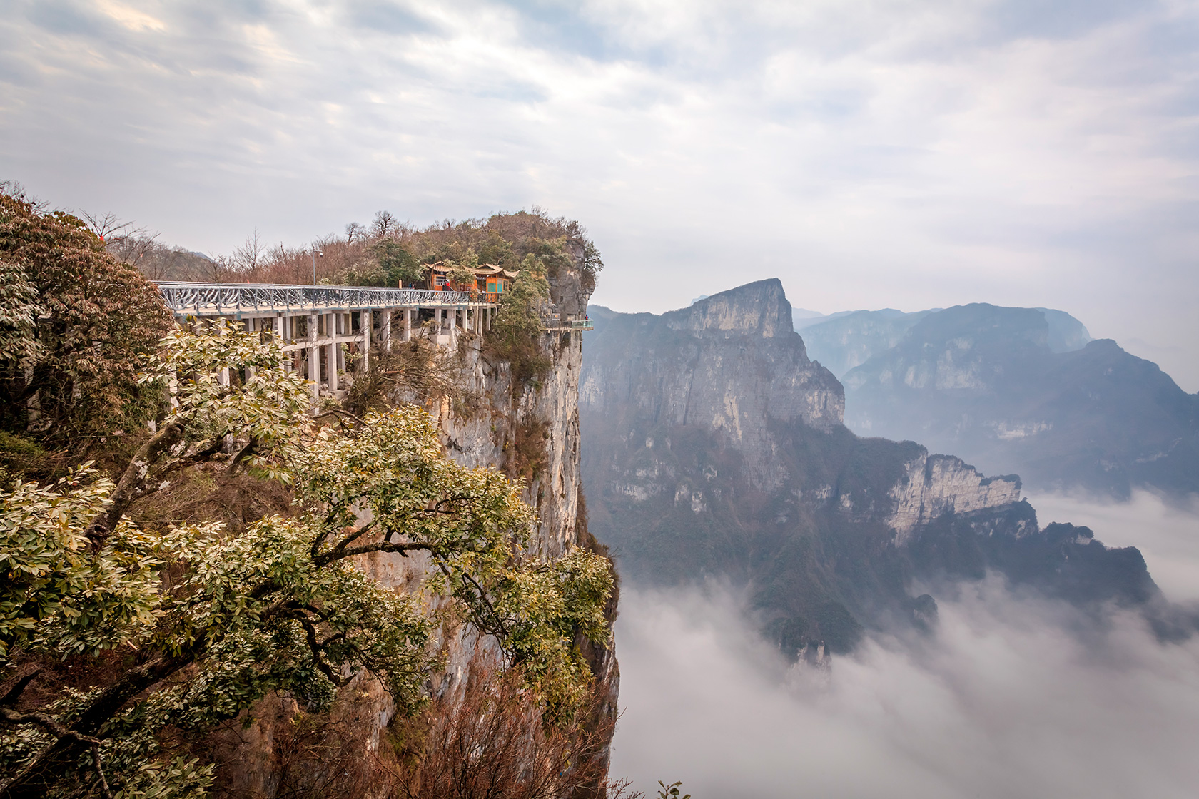 Горы Тиан Мен, Китай