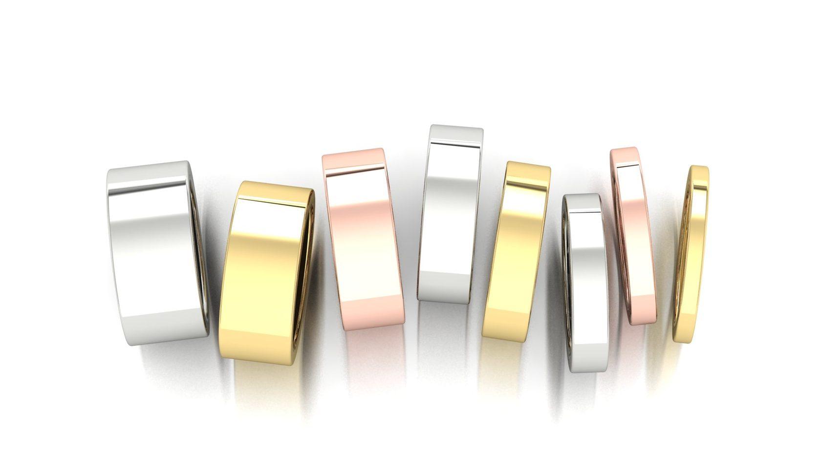 Классческие обручальные кольца от узких до широких моделей колец ювелирная студия Виктора Шадрина