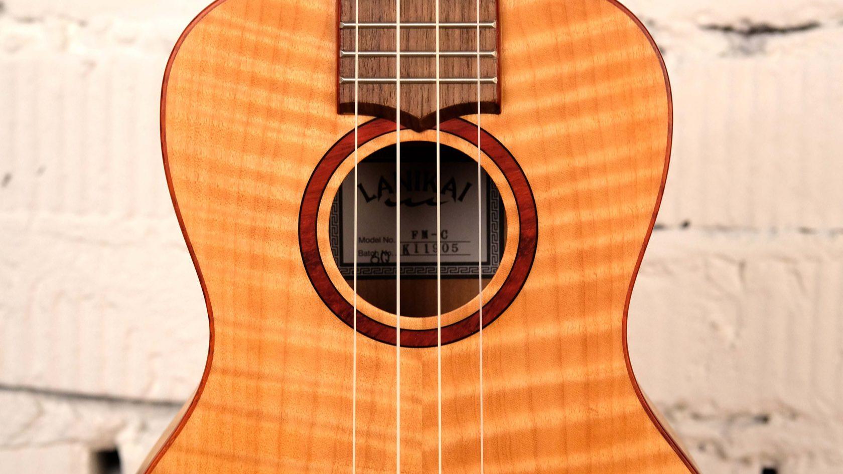 купить укулеле, магазин укулеле ukelovers, ukulele lanikai FM-C, укулеле концерт, клен