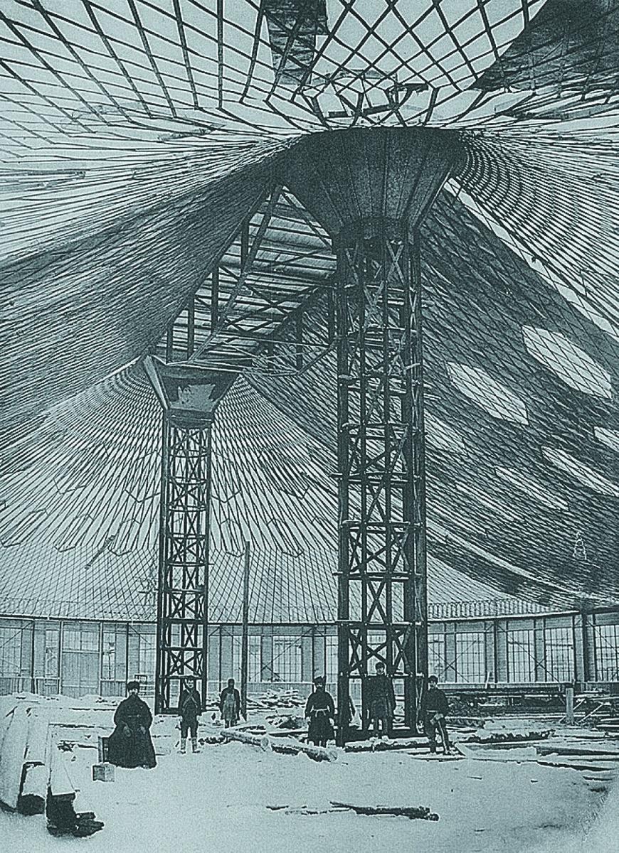 строительство овального павильона в Нижнем Новгороде, 1895 г.