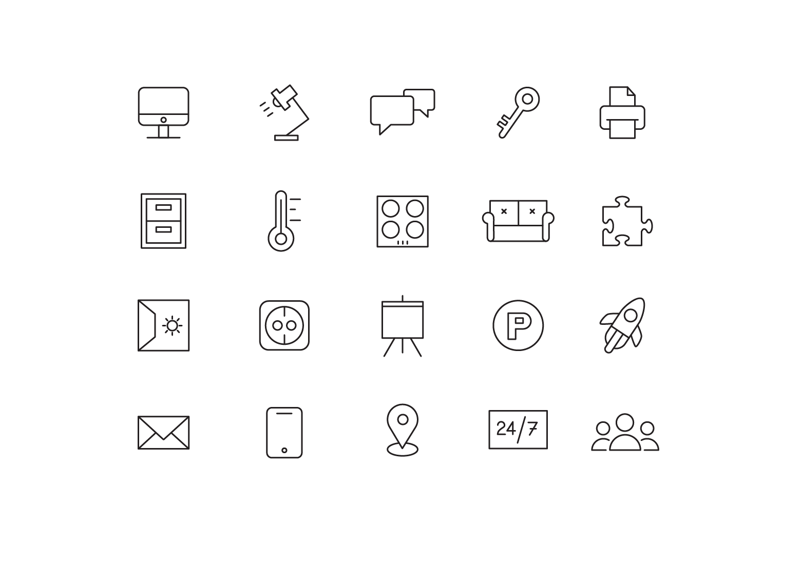 """Icons """"Co-working"""""""