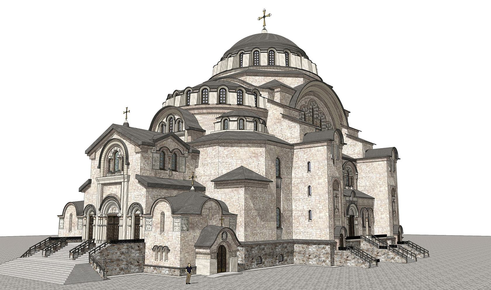 византийский храм, архитектурный проект храма,
