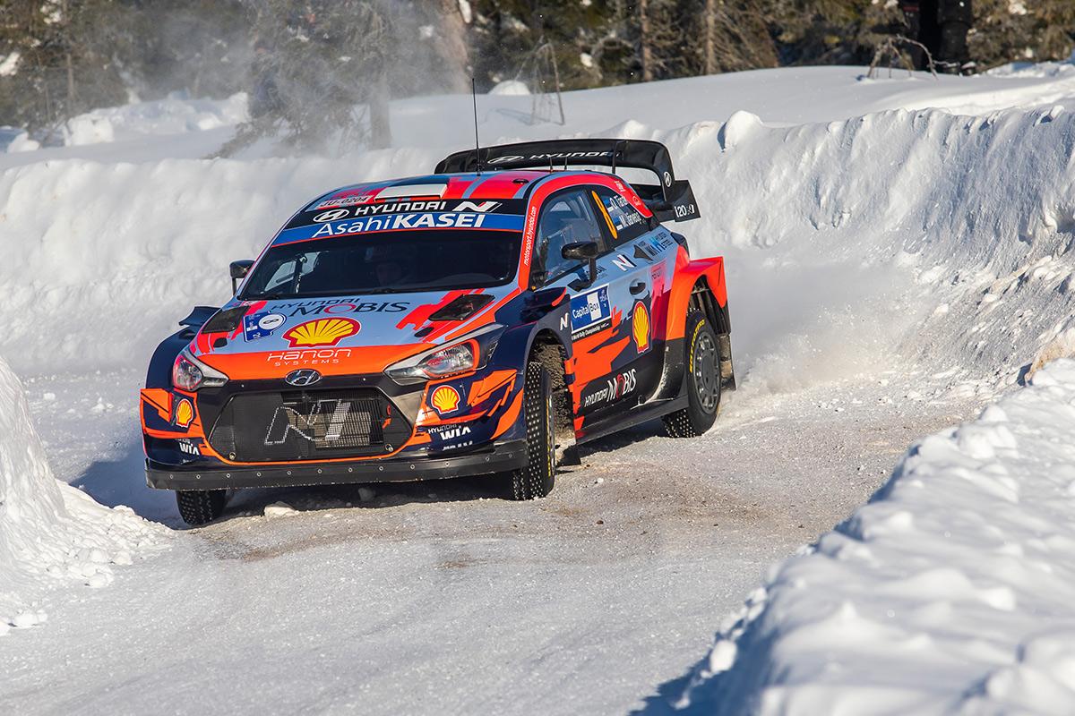 Отт Тянак и Мартин Ярвеоя, Hyundai i20 Coupe WRC, Arctic Rally Finland 2021