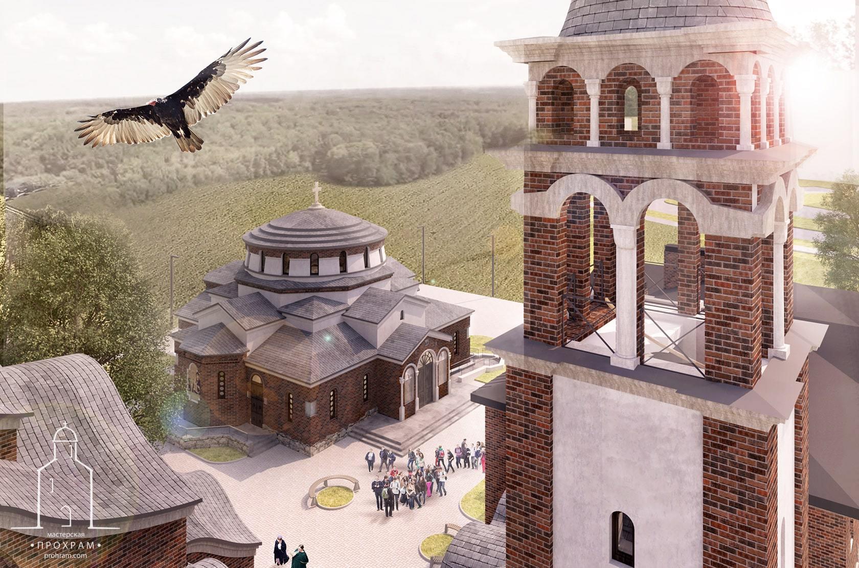 храм святителя Спиридона, проект храма Минск, архитектурный храм проект