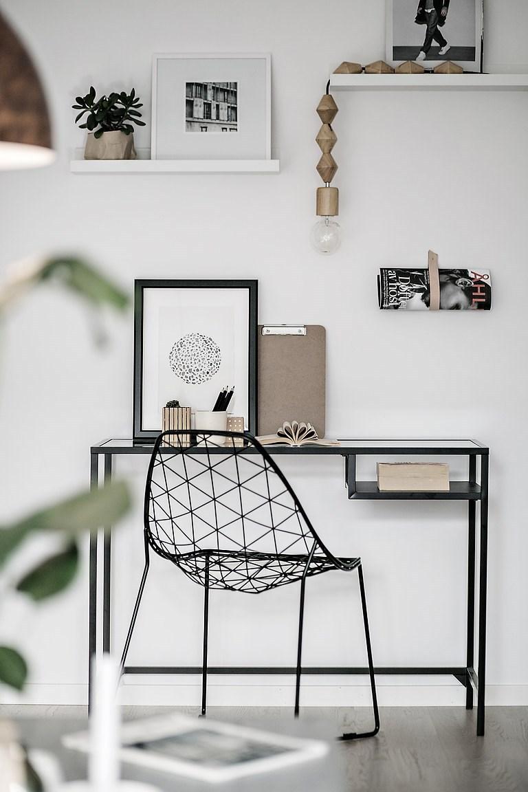 стол для ноутбука витшё черный белый орск