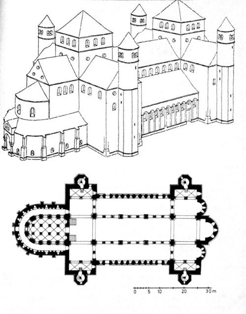 Архангельский собор в Хиндесхайме. Германия. 1033г.