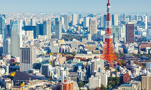 Панорамный вид на Токийскую телевизионную башню