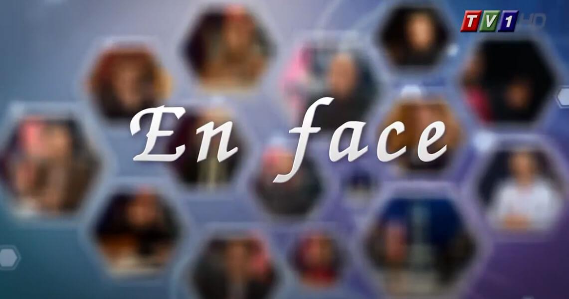 Предаването за култура и изкуство En face по TV1 се излъчва всяка събота. Водеща е Олга Бузина.