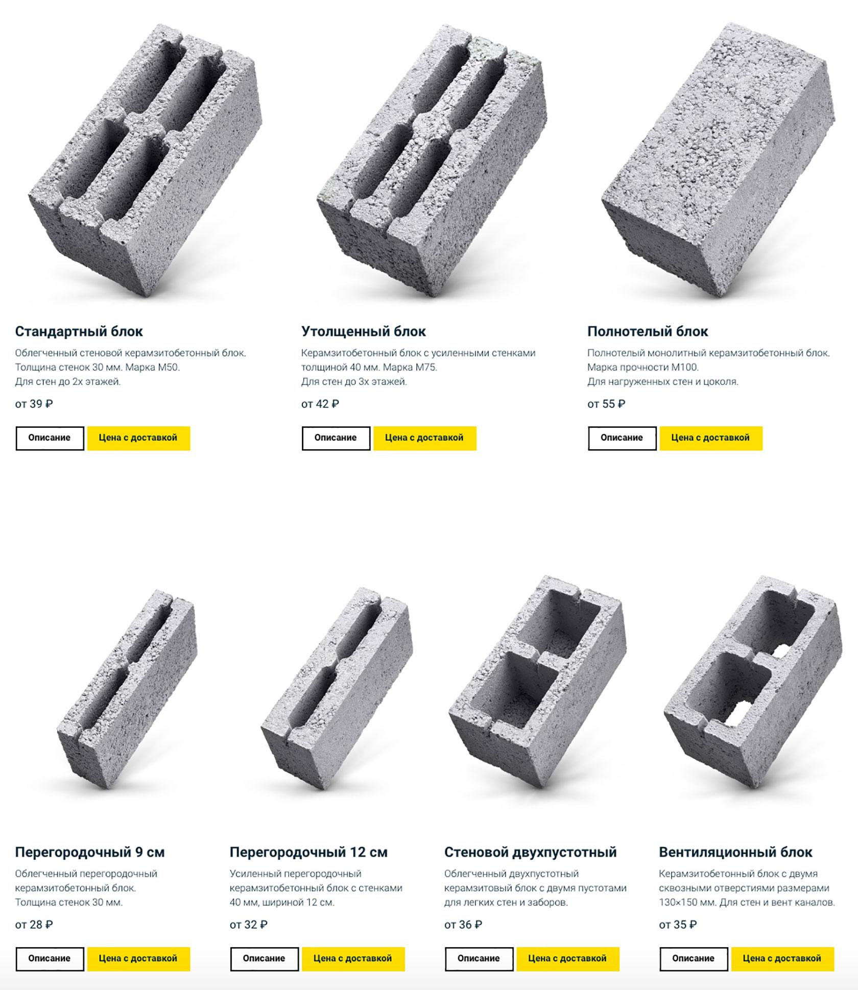 стоимость керамзитобетонных блоков от производителя