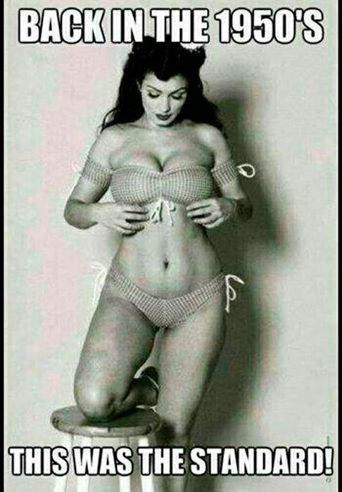 Девушка в нижнем белье, фото из 1950-х