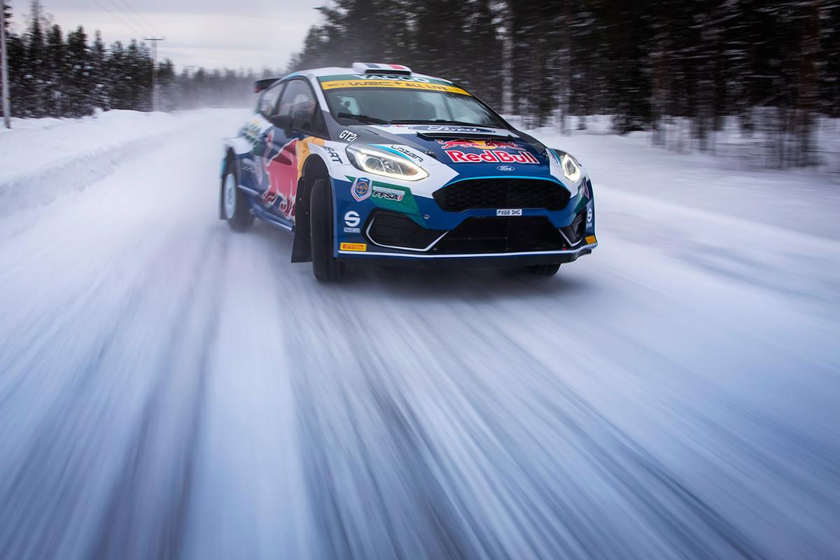 Адриен Фурмо и Рено Жамуль, Ford Fiesta Rally2, тесты в Рованиеми