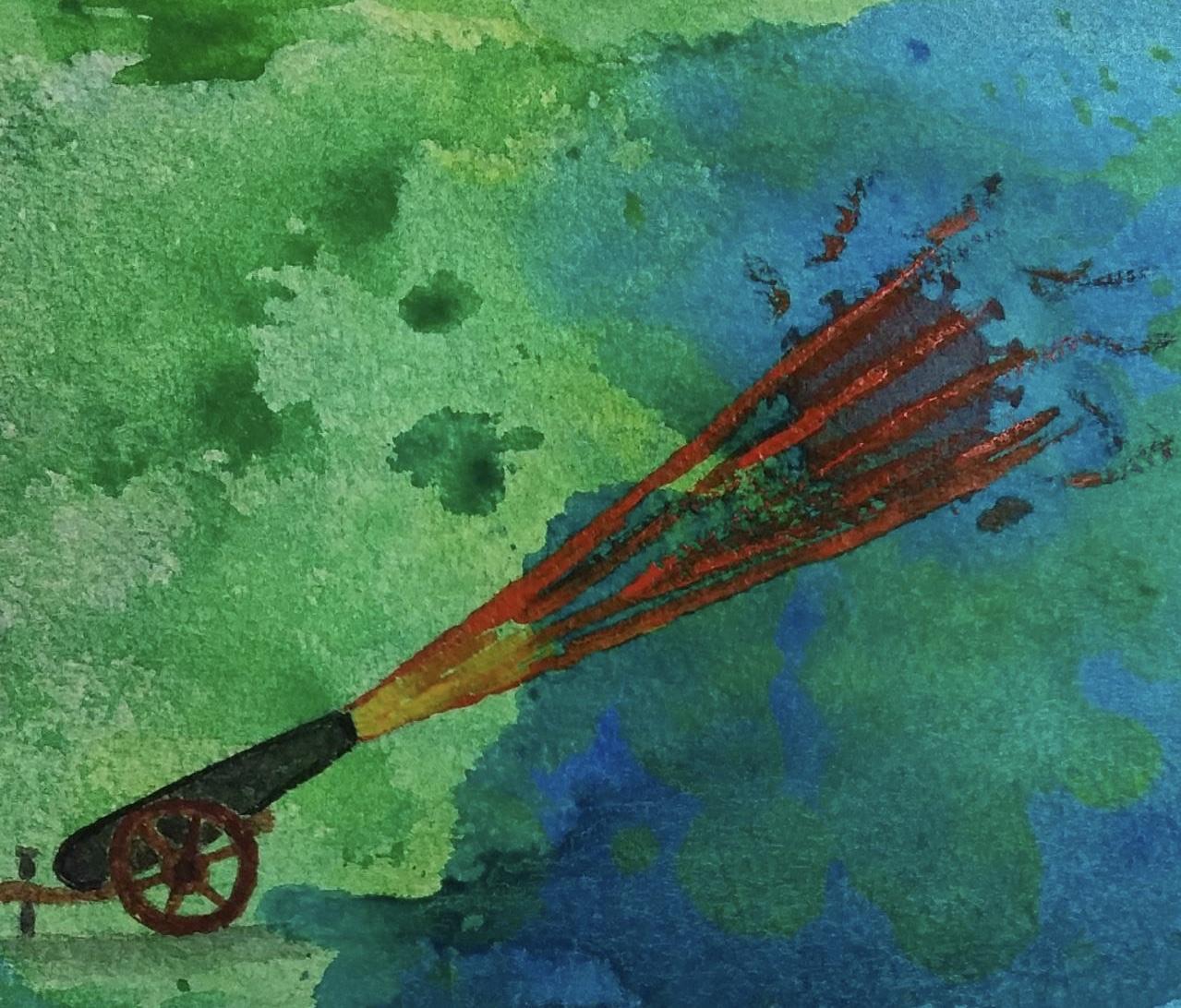 Конюшкова Наталья / тема «Фантазия: победа над коронавирусом» / акварель