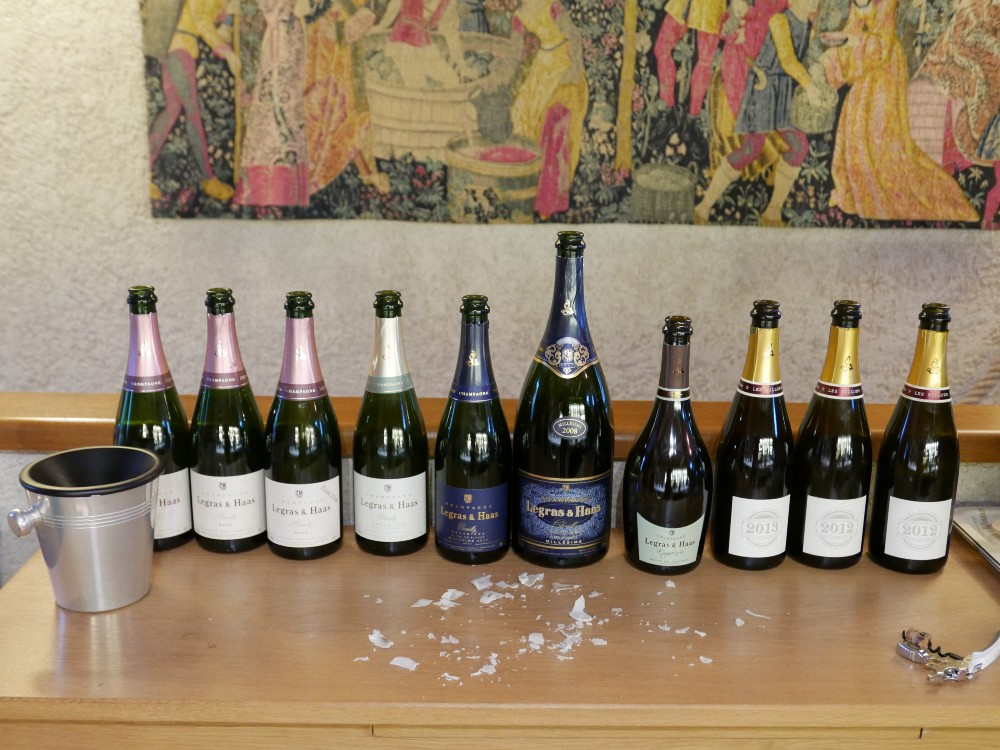 Champagne Legras & Haas tasting
