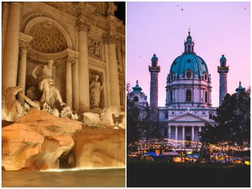 Рим и Вена в октябре
