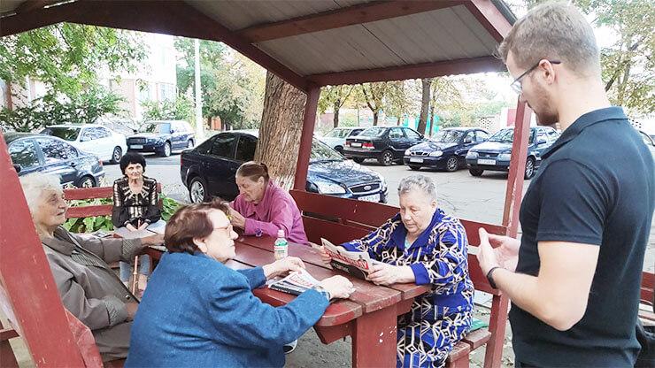 Дворовые встречи с активистами ППШ Херсона -фото
