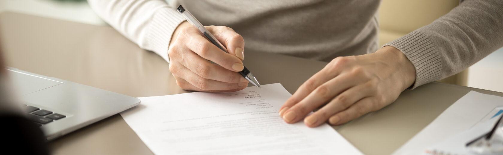 подписание документов
