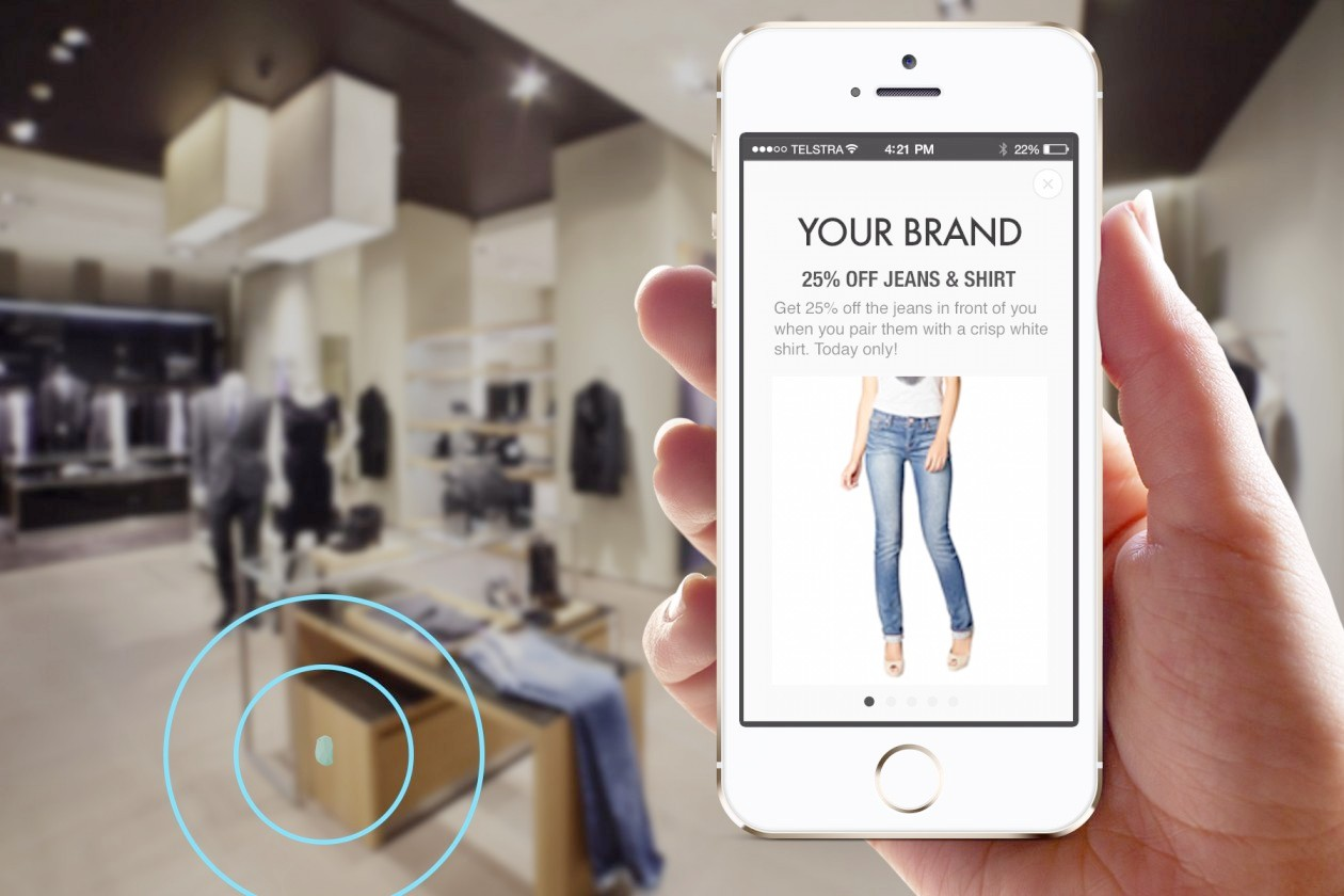 iBeacon technology in action in a retail environment