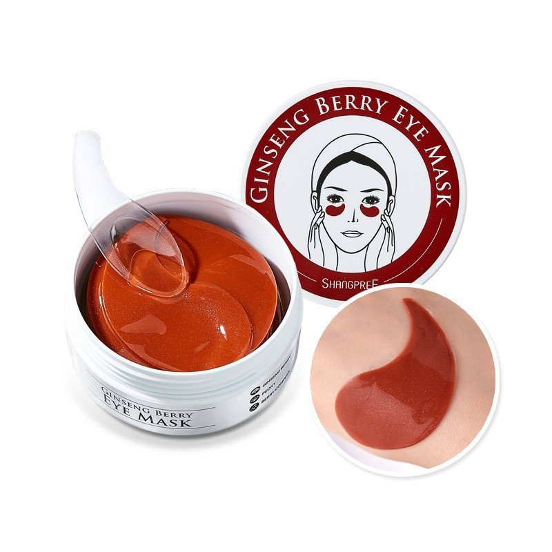 Гидрогелевые патчи для век, с экстрактом женьшеня. Shangpree Ginseng Berry Eye Mask