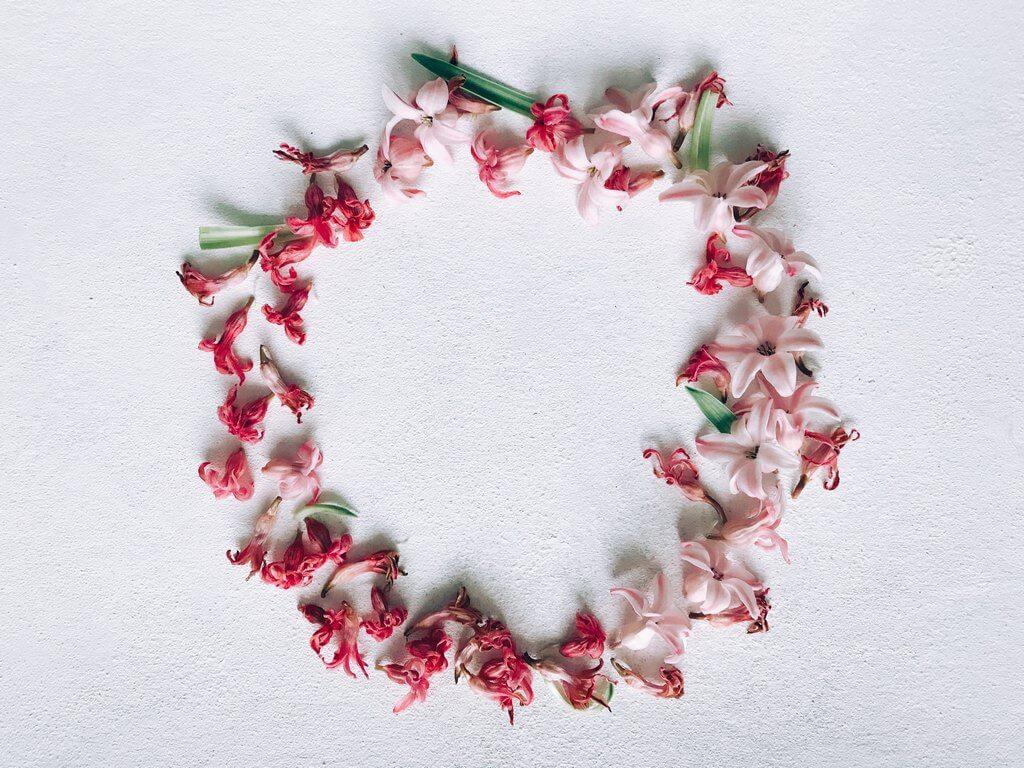 фото венка из сухих цветов