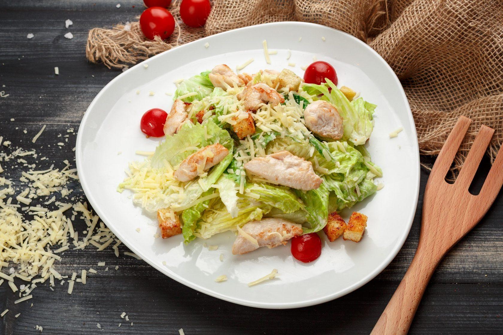 новых салат цезарь с курицей классический простой фото тела