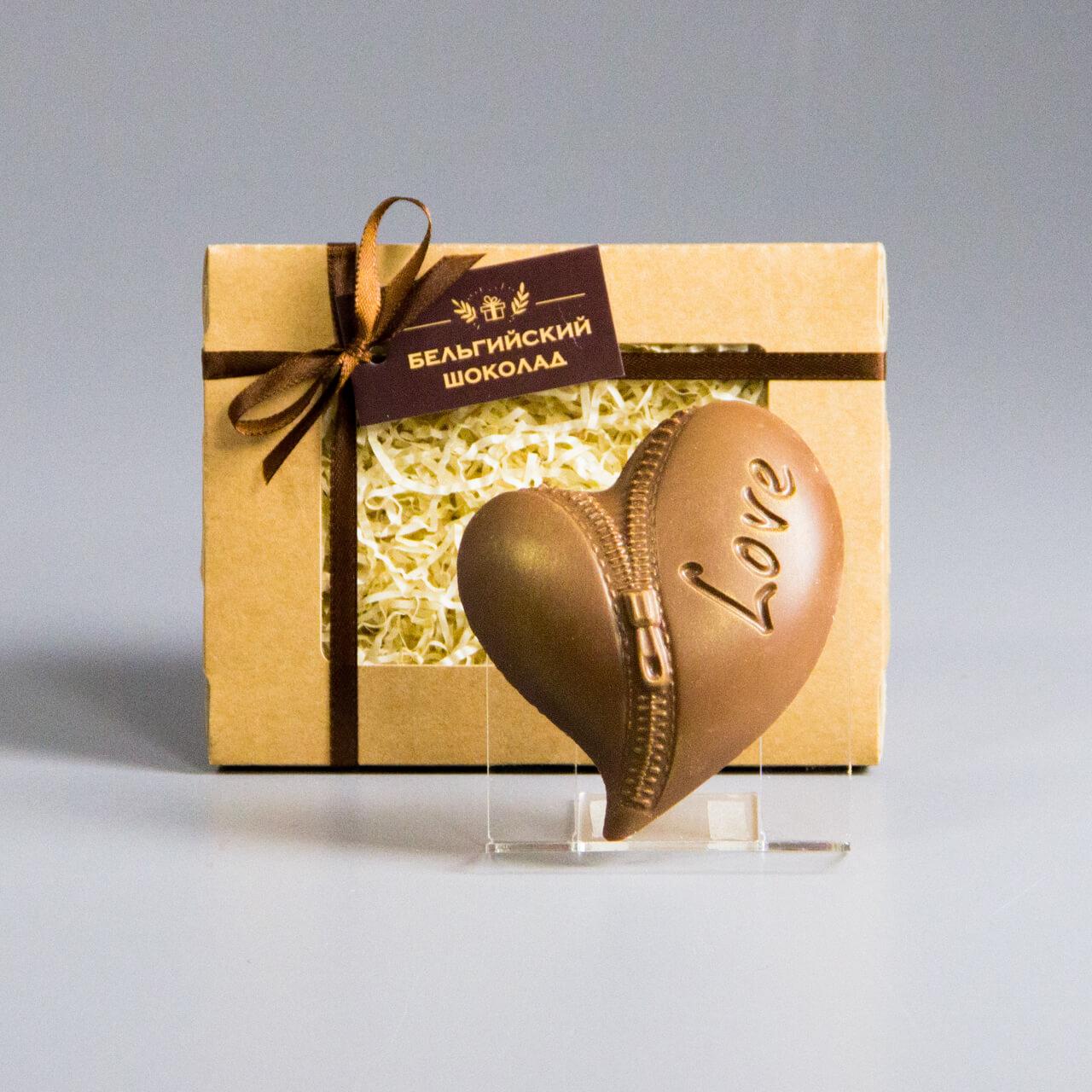 Шоколадная фигурка «Сердце с молнией»