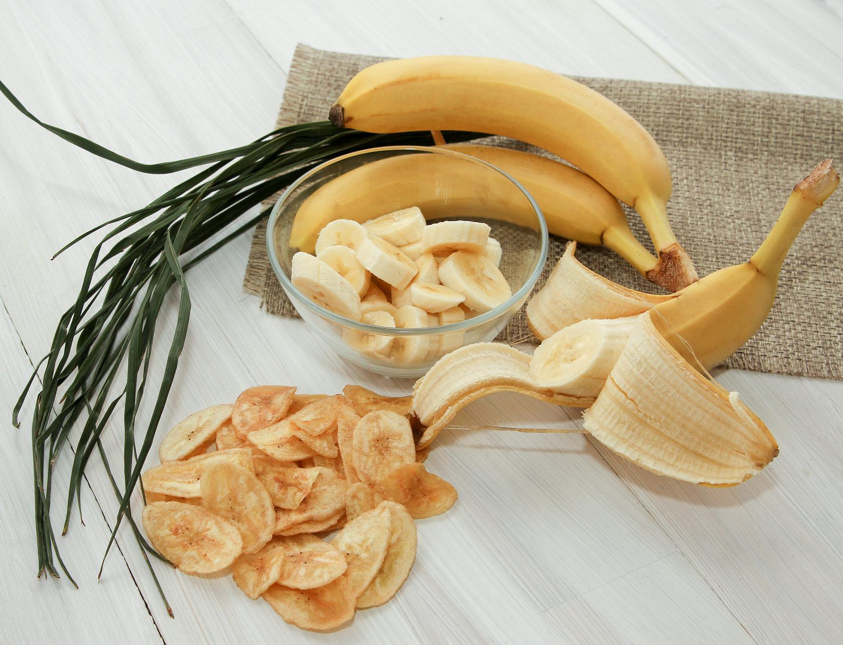Банановые чипсы при диете