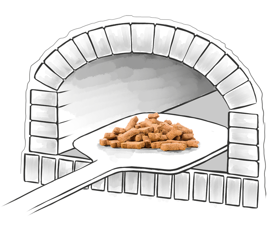 Печь с запеченным кормом