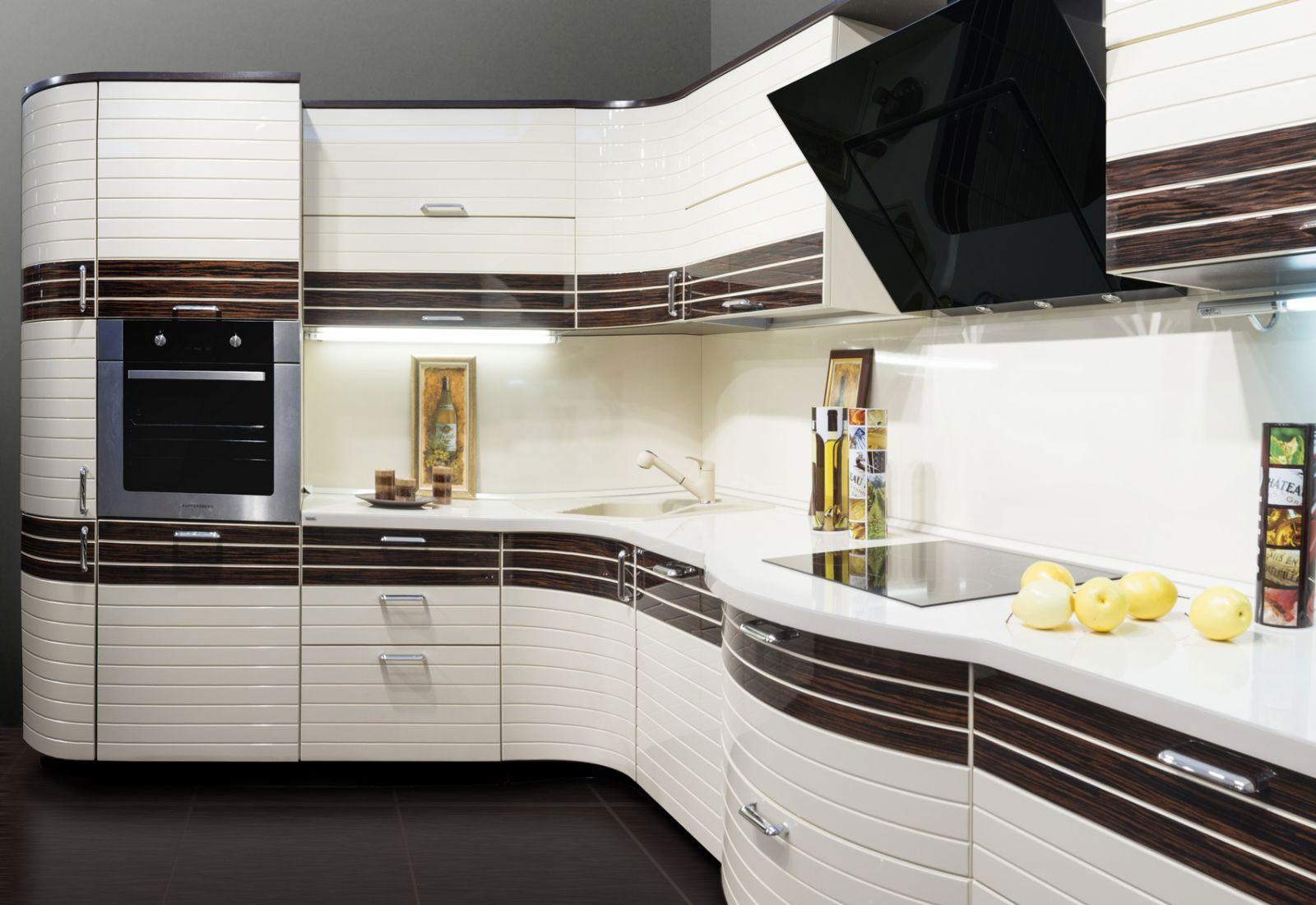 Кухни в полоску фото фасады