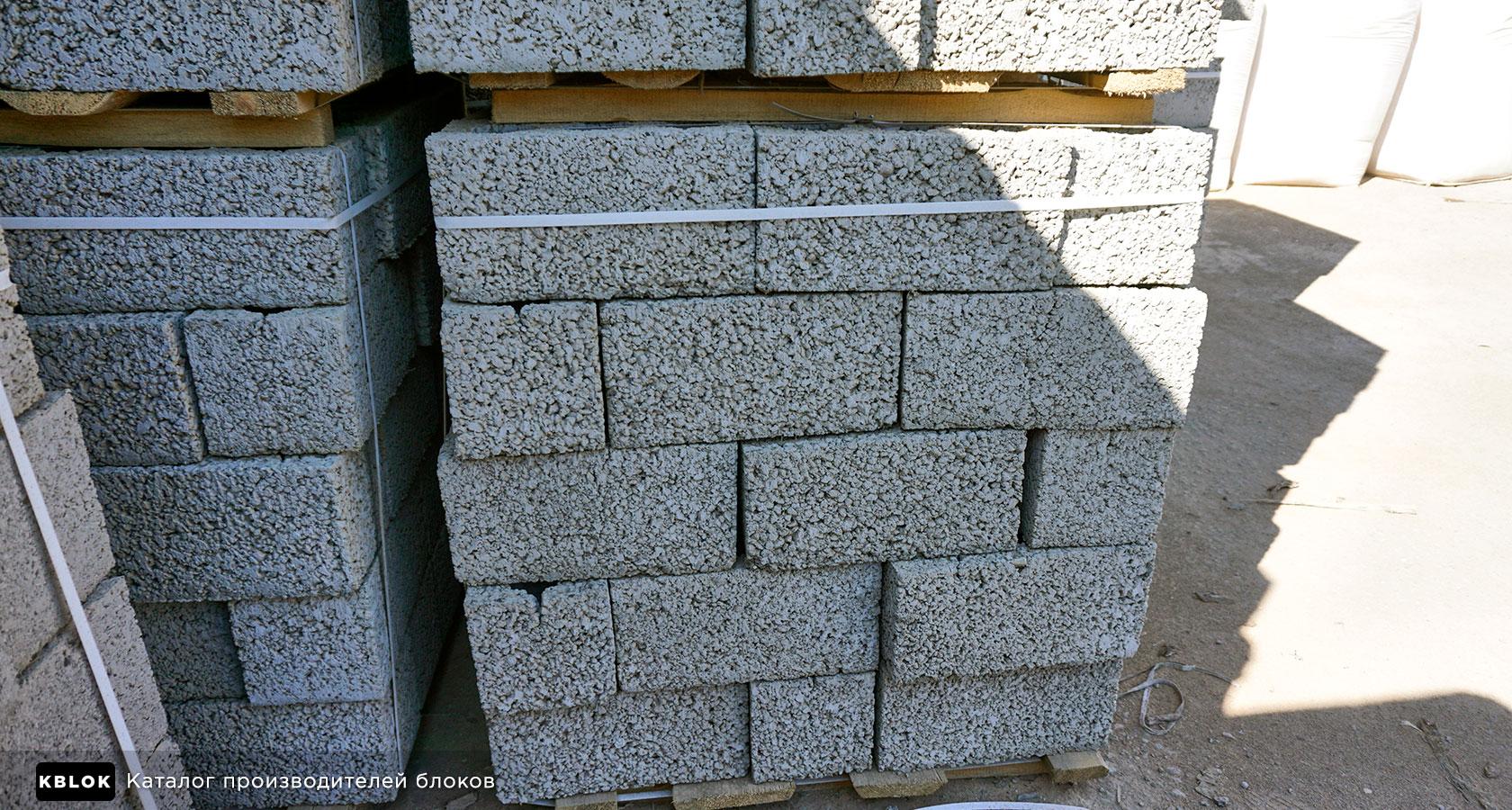 полипропиленовая лента на поддонах с блоками