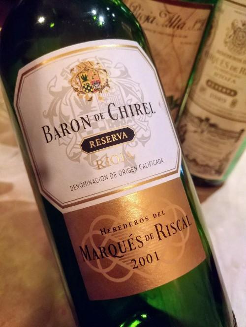 Marqués de Riscal Baron de Chirel Reserva 2001