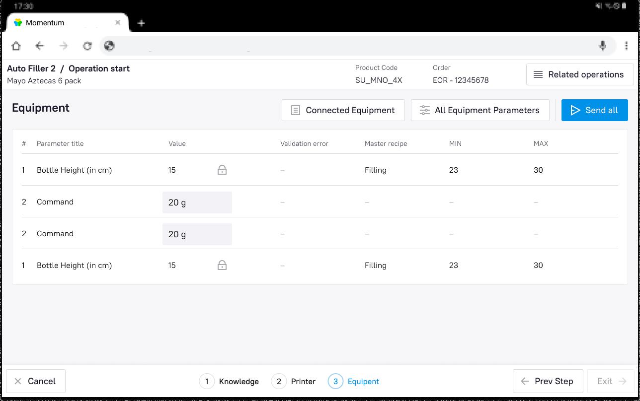 Новый интерфейс оператора производственной линии в Momentum