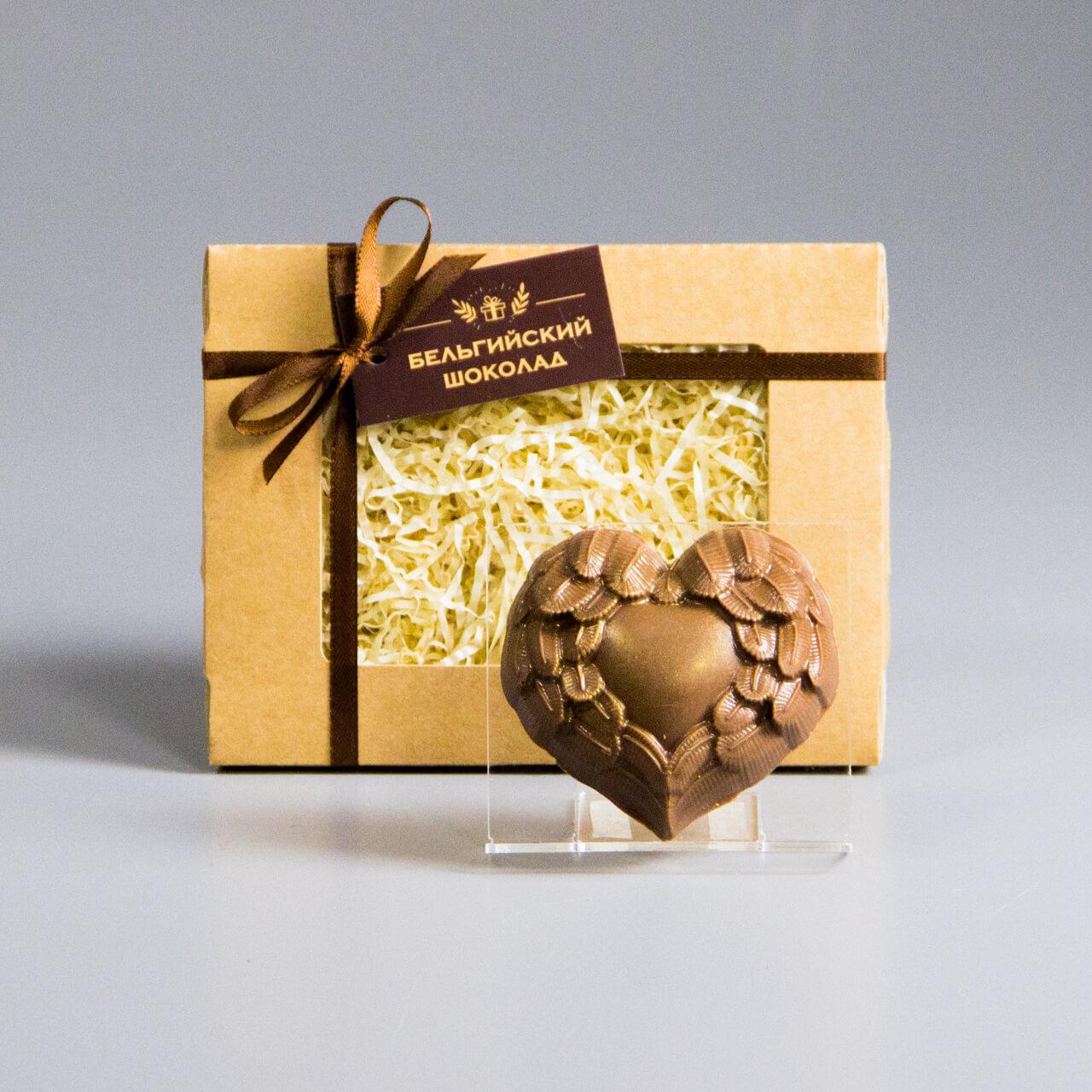 Шоколадная фигурка «Сердце с крыльями»