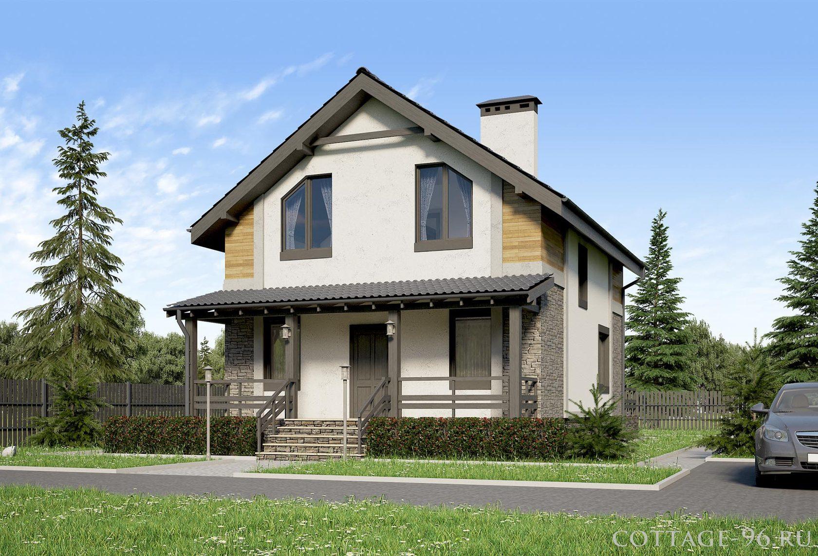 дом из пеноблока 2 этажа
